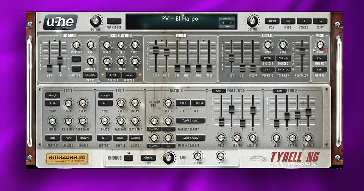 Download U-He Tyrell N6 Synth VST Plugin Now