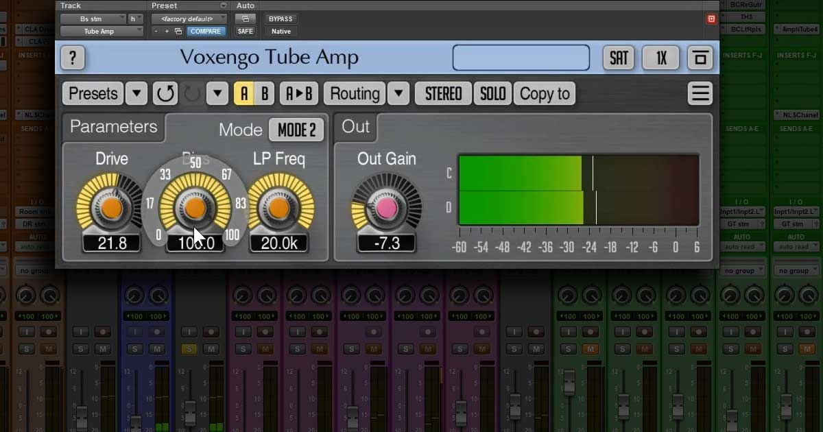 Free Voxengo Tube Amp Plugin For PC and Mac