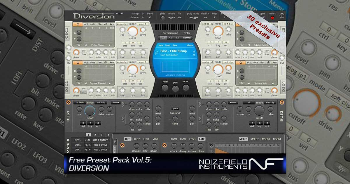 Free Diversion Presets By Noizefield And Dmitry Sches