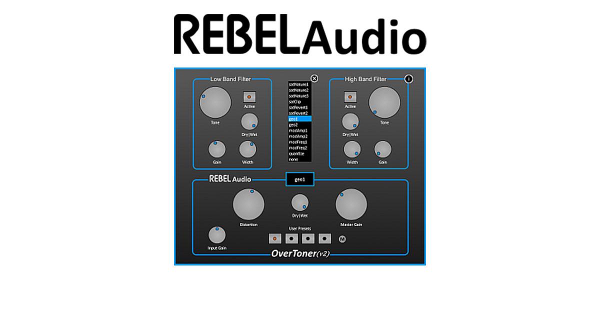 RebelAudio Overtoner Free Distortion VST Plugin