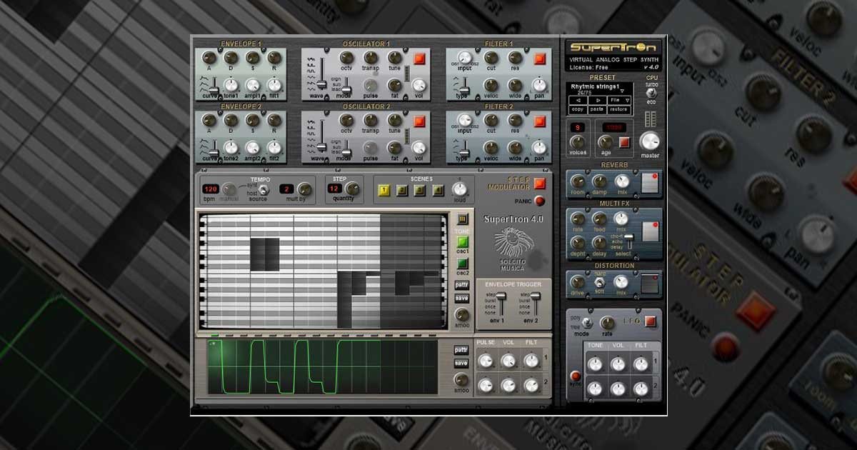 Download Supertron Free VST Synth Now