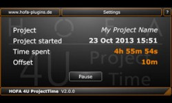 Hofa 4U Free Project Time Plugin