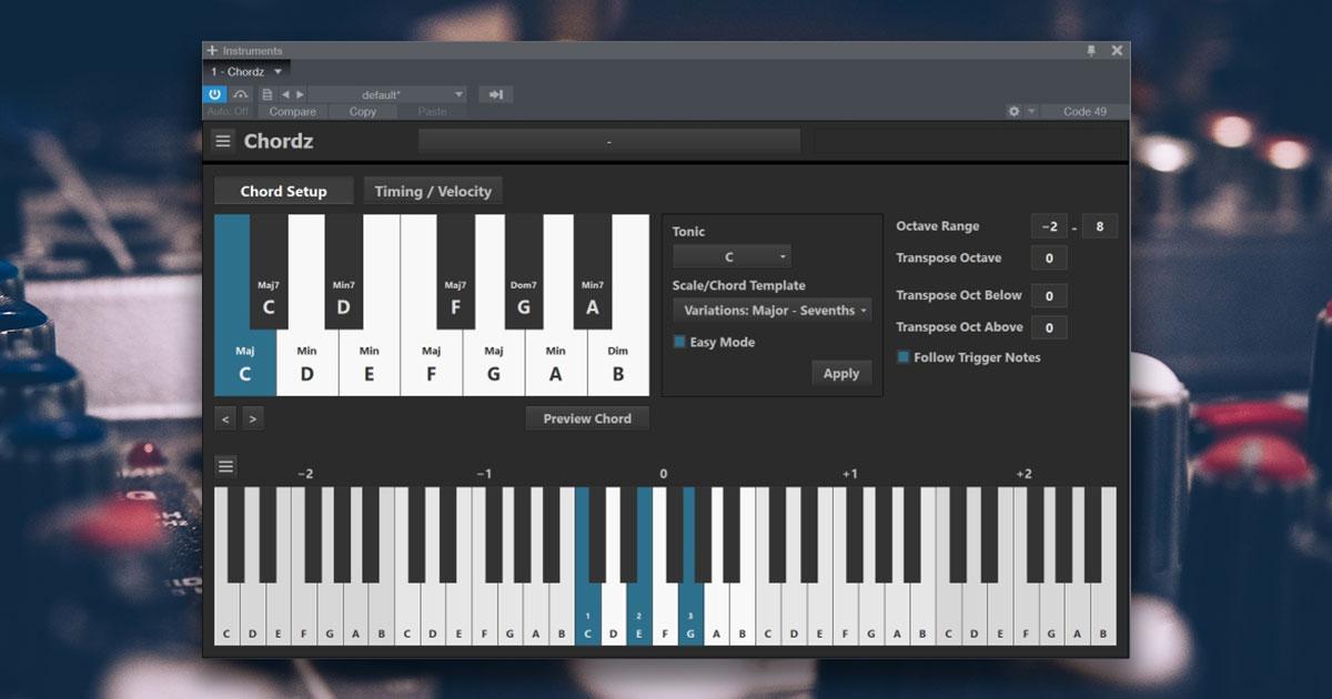 Chordz - Free Chord Plugin For 32bit and 64bit PC