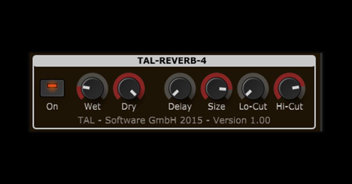 TAL Reverb 4 - Free Reverb Plugin For PC & Mac