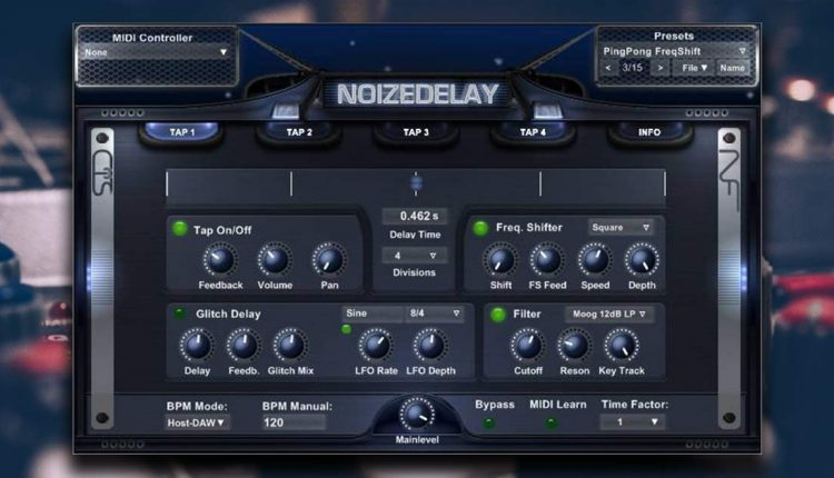 Noizefield Noize Delay | Free Delay Effect VST Plugin | Free VSTs