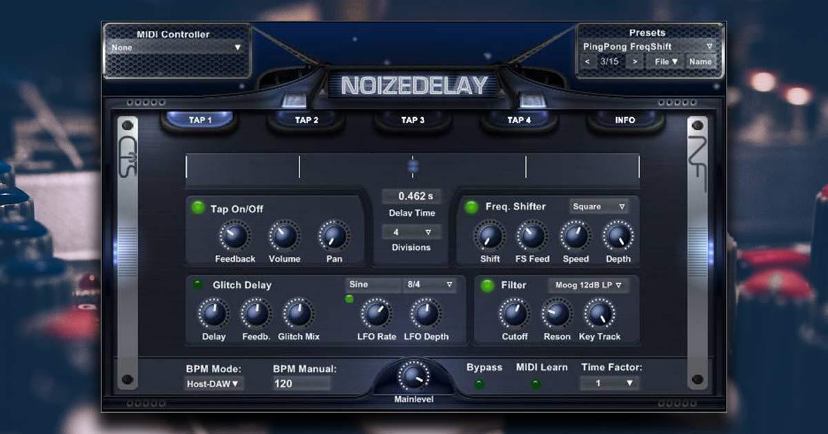 Free Delay VST Plugin To Download - Noizedelay