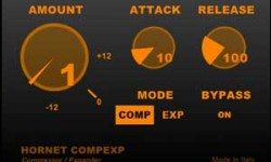 HoRNet CompEXP Free Compressor VST Plugin Screenshot