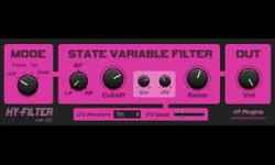 Hy Filter Free VST FIlter Plugin Screenshot