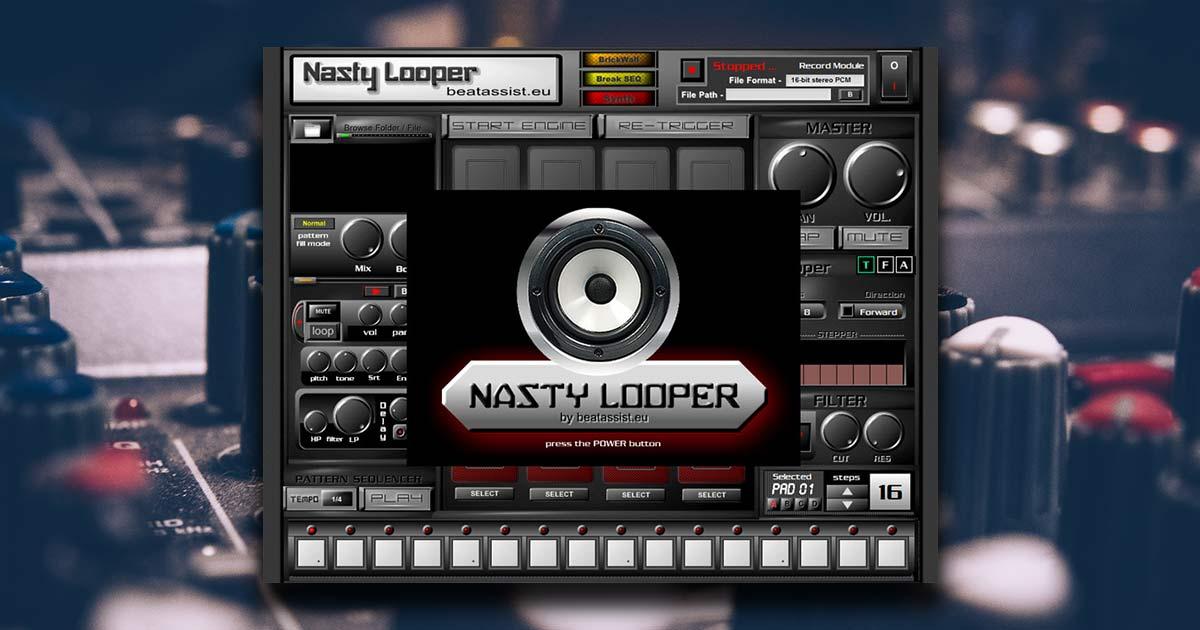 nasty looper free drum machine vst plugin download free vsts. Black Bedroom Furniture Sets. Home Design Ideas