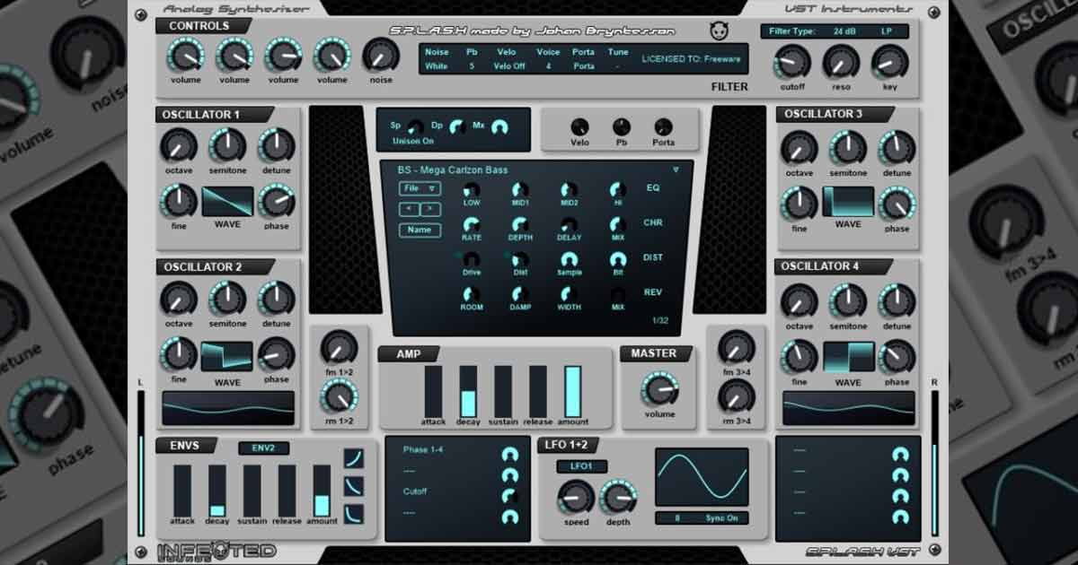 Splash EDM Synth - Free VST Plugin