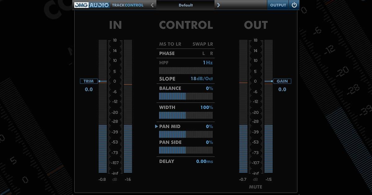DMG Audio TrackControl Plugin