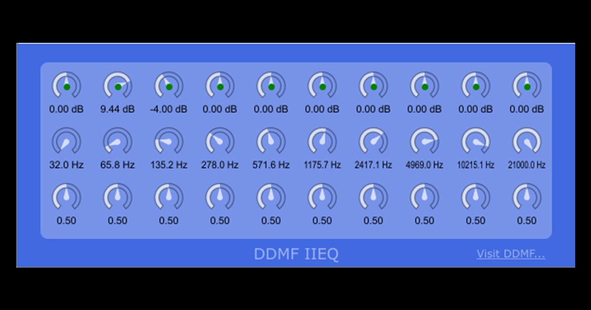 DDMF IIEQ | Free Equalizer Plugin For PC & Mac | Free VSTs