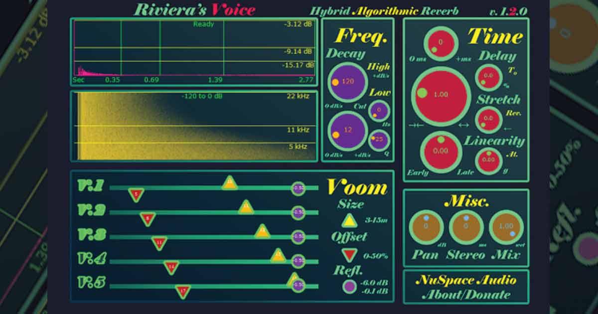 Nuspace Audio Riviera Free Reverb VST Plugin