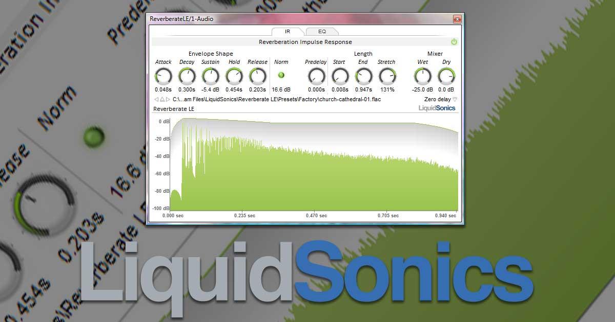Free Liquidsonics Reverberate LE VST Plugin