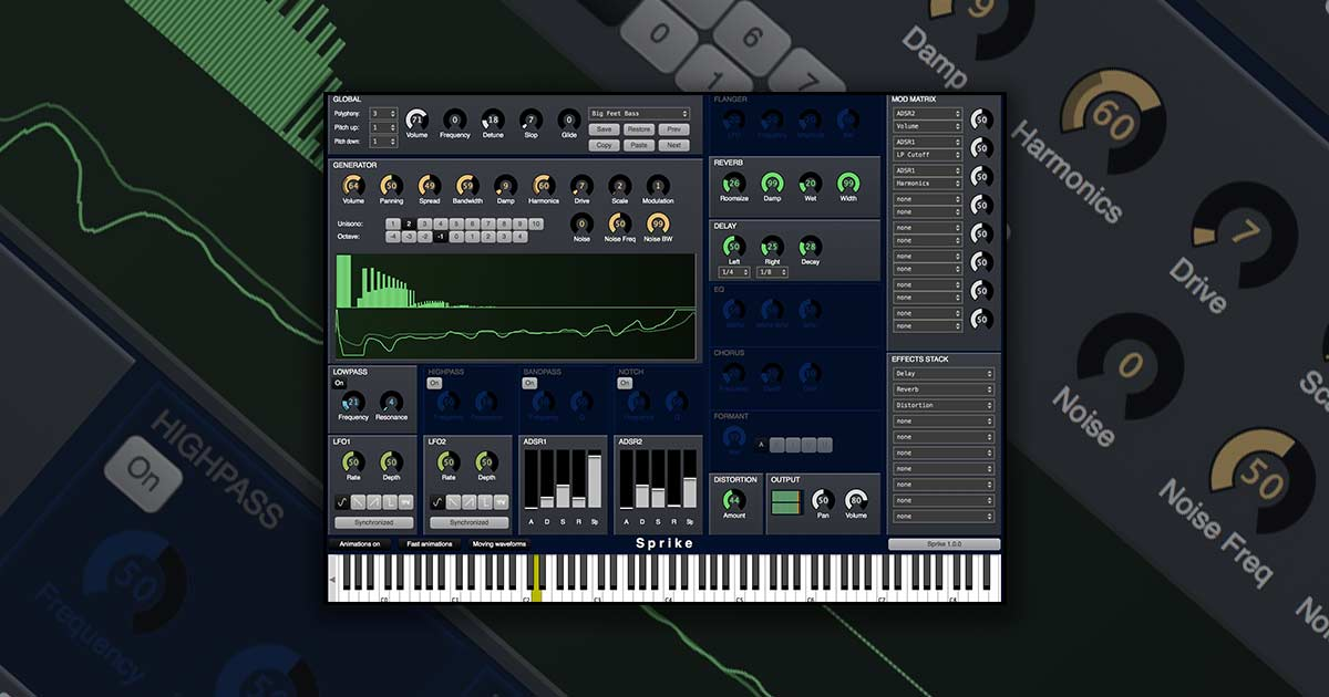 Cognitone Sprike - A Free Synth Plugin For Windows and Mac