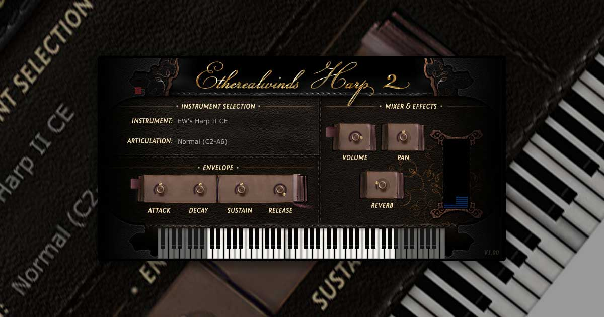 Etherealwinds Harp II:CE - Virtual Harp VST Plugin For PC & Mac