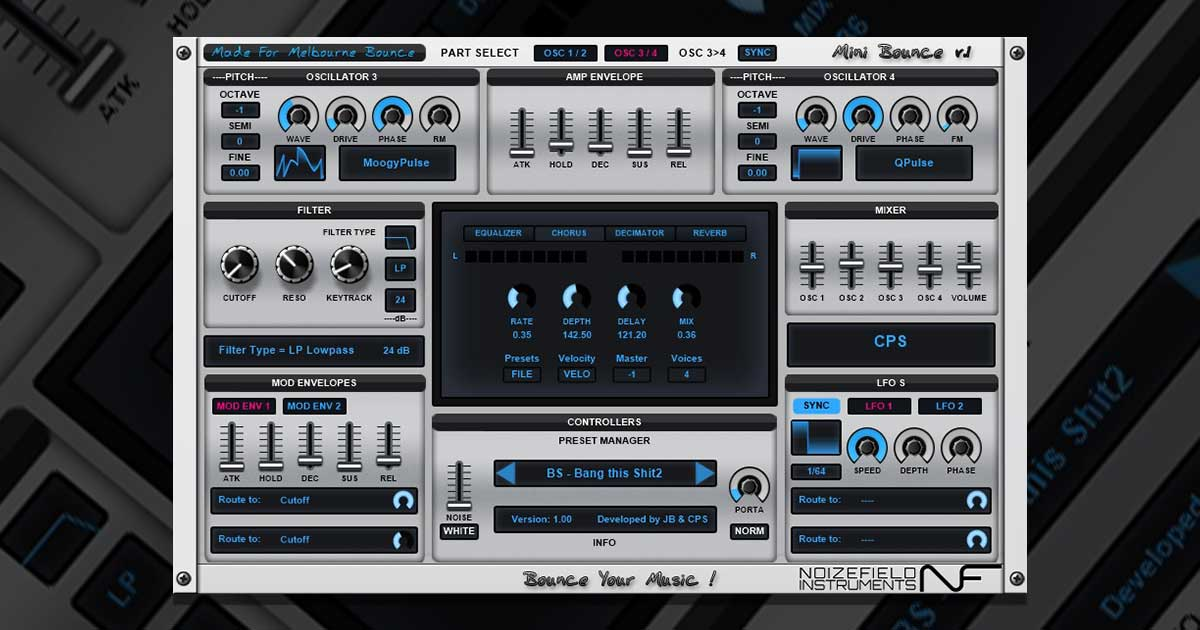 Infected Sounds Mini Bounce VST Plugin