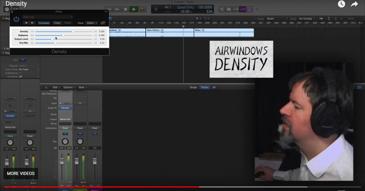 AirWindows Density Free Saturation VST Plugin