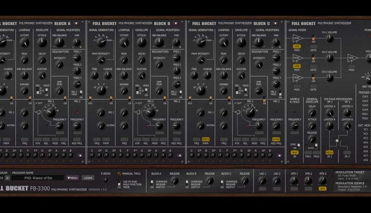 Full Bucket Audio FB-3300 - Free Synth For PC & Mac | Free VSTs