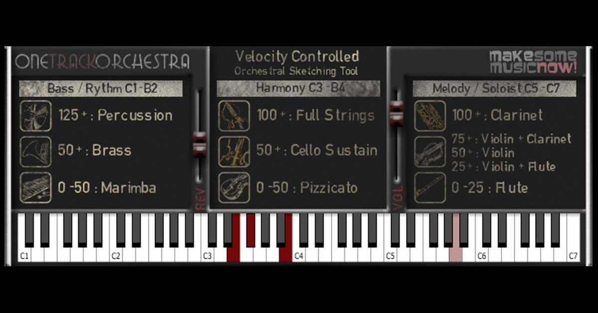 One Track Orchestra - Free Orchestra VSTi Plugin For Windows