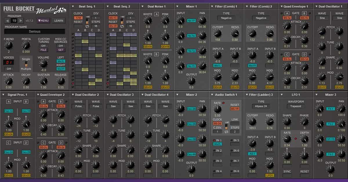 Full Bucket Modulair Free Synth For PC and Mac
