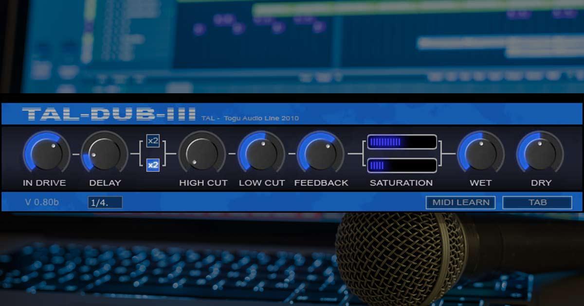 Togu Audio Line - Tal Dub III - Free Delay Plugin For PC & Mac