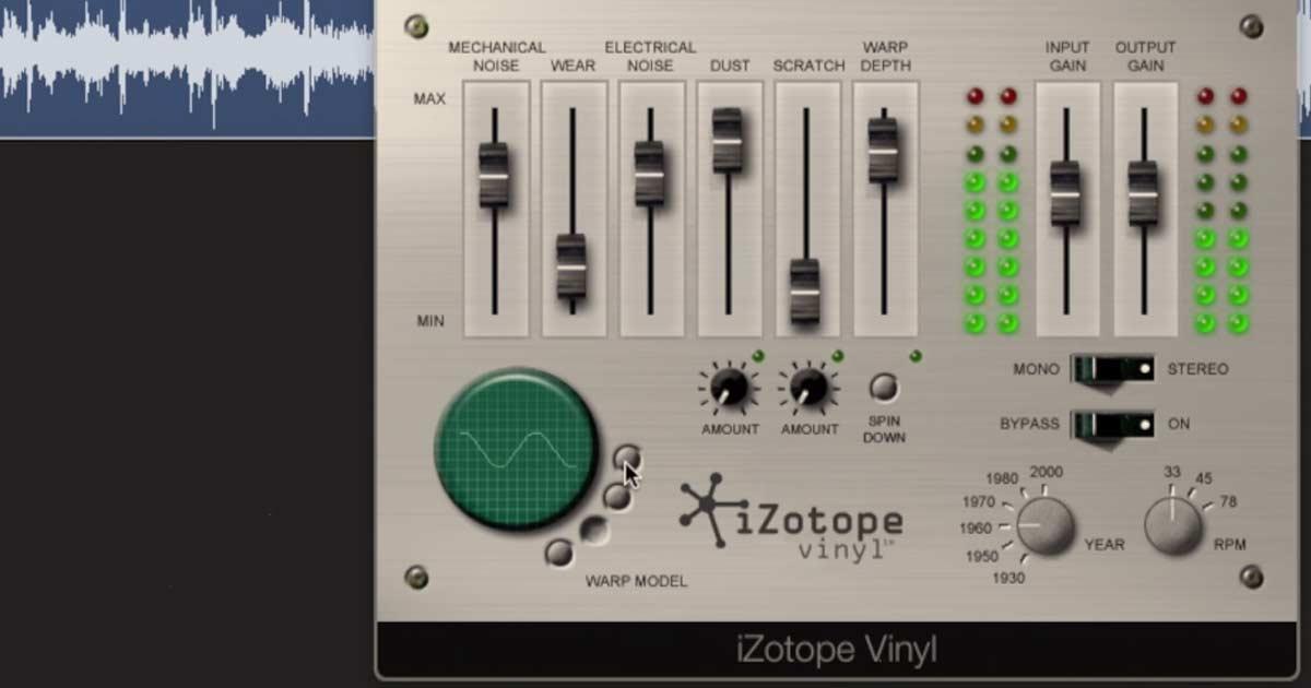 iZotope Vinyl - Free Plugin Download