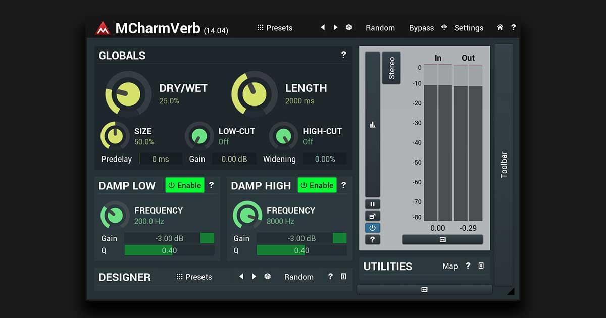Download MCharmVerb Free Reverb Plugin Now