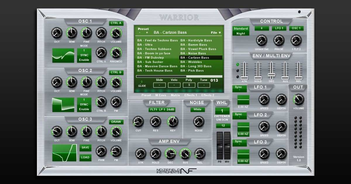 Download Noizefield Warrior VST Synth Plugin Free Today