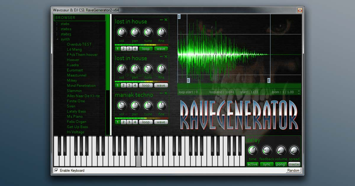 Download Rave Generator 2 Plugin For PC, Mac And Linux Free Now