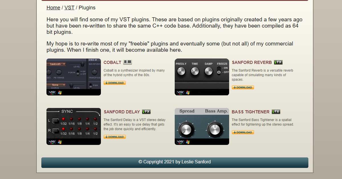 Download Sanford Delay VST Now