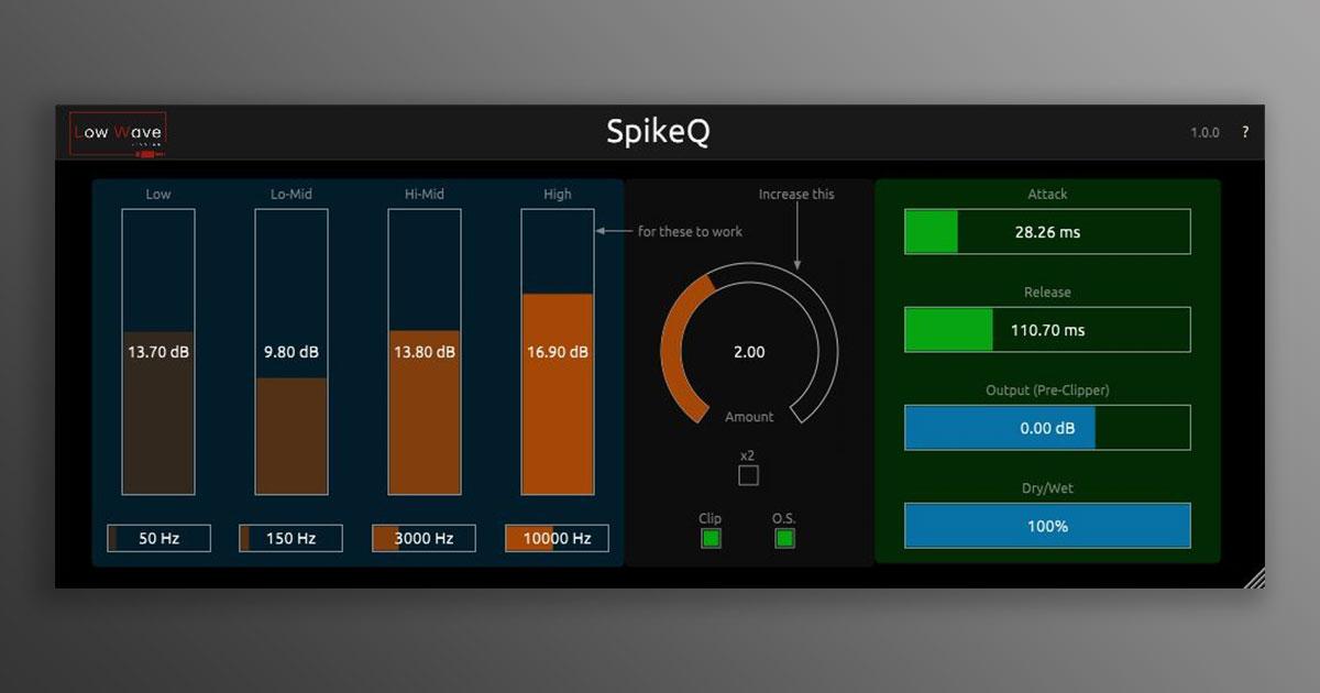 Get SpikeQ Transient Shaper VST Plugin Free Now
