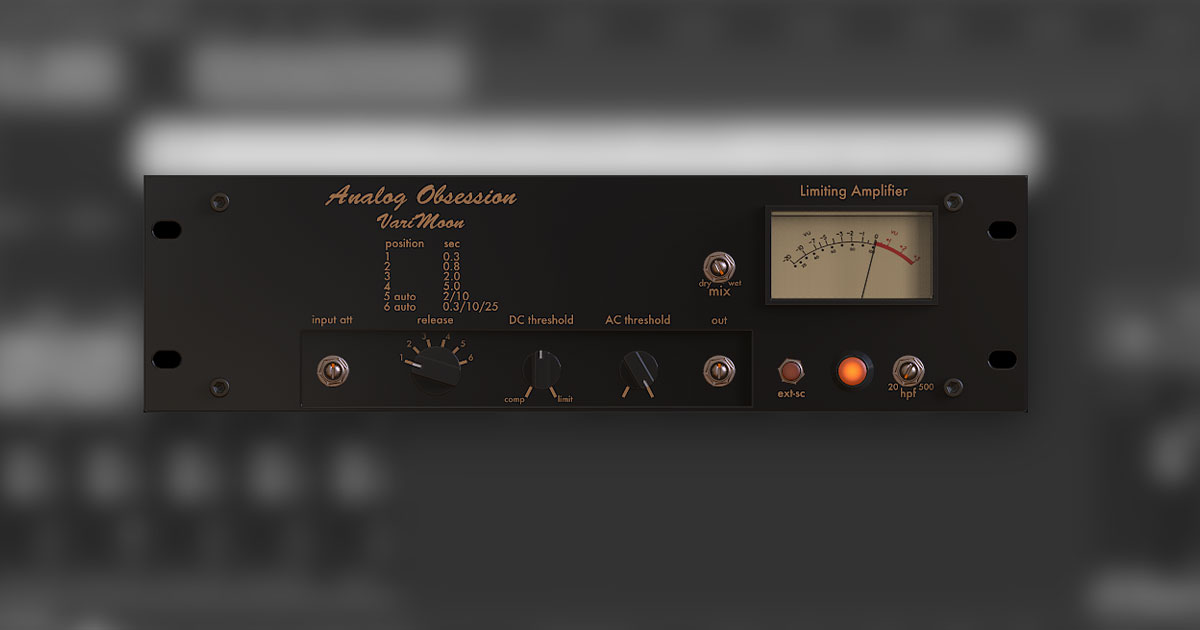 Download Analog Obsession VariMoon Compressor For PC & Mac Free Today