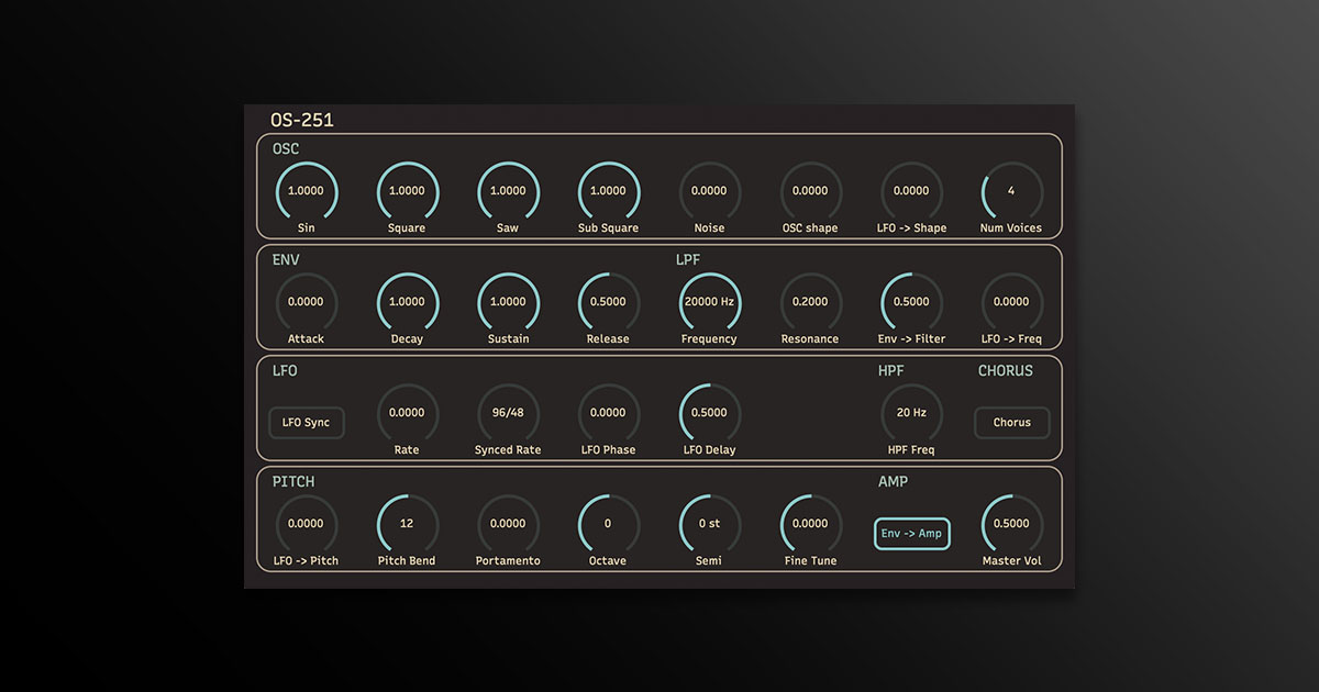 Download OS-251 Synth VST Plugin Free